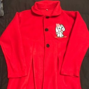 Jackets & Blazers - Girls New Red Long Coat Size 8